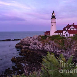 Norma Brandsberg - Portland Lighthouse Sunset