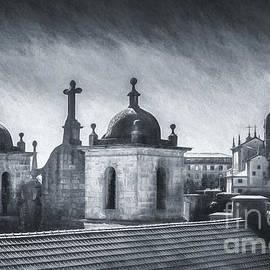 Porto Spires, Portugal - Monochrome by Philip Preston