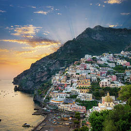 Positano Sunset by Inge Johnsson