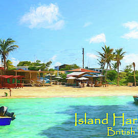 Post Card From Island Harbour Anguilla by Ola Allen