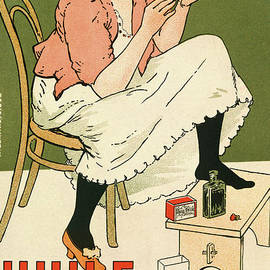 Poster Advertising Huile Russe Shoe Protector, 1896 by Armand Rassenfosse