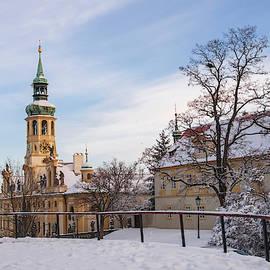 Prague Historic Monument Loreta in Wintertime by Jenny Rainbow