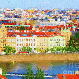 Prague - Painterly by Les Palenik