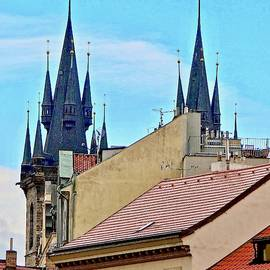 Prague Rooftops With Towers of Tyn Church by Ira Shander