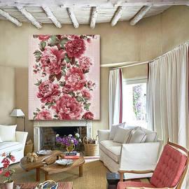 Pretty in Pink Peonies -Artwork in Situ by Grace Iradian