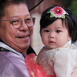 Proud Grandpa, Korea by Kevin Felts