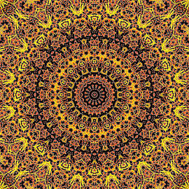 Psychedelic Kaleidoscope Abstract Pattern 15 by Artist Dot