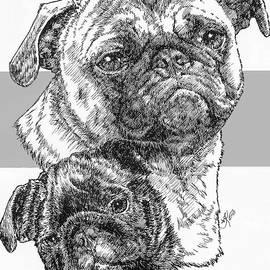 Pug and Pup by Barbara Keith