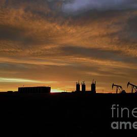 Pumpjacks under the Dakota Sky by Jeff Swan
