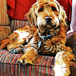 Puppy Dog Chair Warmer by Christine Segalas