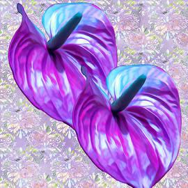 Purple Antherium by Rosalie Scanlon