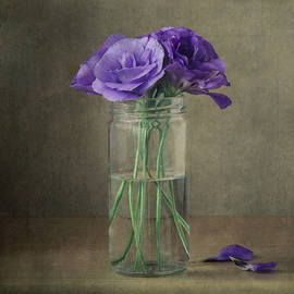 Purple Flowers in a Jar by Gergana Chakarova