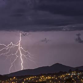 Purple Lightning Storm by David Farlow