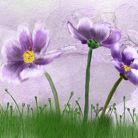 Purple Pansies by Mary Timman