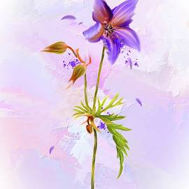 Purple Petals by Mary Timman