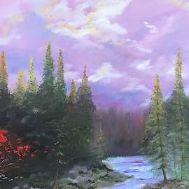 Purple skies - 16X20 Oil on Canvas by Hyacinth Paul by Hyacinth Paul