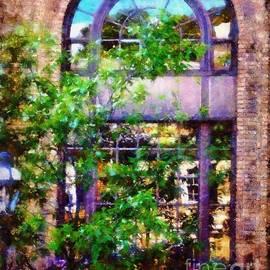 Purple window reflections Bethlehem Pa
