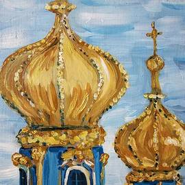 Pushkin Palace Towers by Maria Langgle