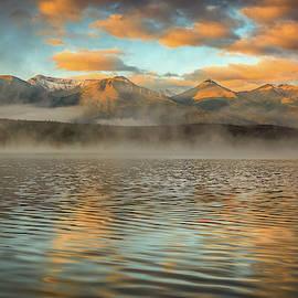 Pyramid Lake Foggy Sunrise by Dan Sproul
