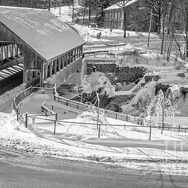 Quechee Covered Bridge In Winter by Edward Fielding