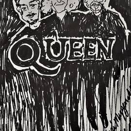 Queen and Adam Lambert by Geraldine Myszenski