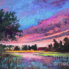 Quiet at the End of the Day - Peaceful Marsh Sunset  by Dianne Parks