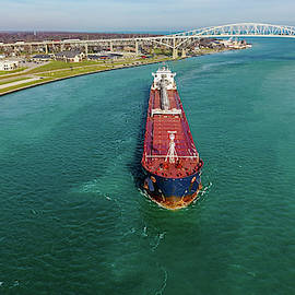Radcliffe R. Latimer Dowbound on the St Clair River by Gales Of November