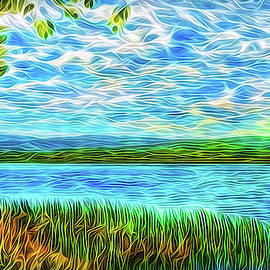Radiant Peace Lake by Joel Bruce Wallach