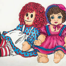 Raggedy Ann And Friend  by Breena Briggeman