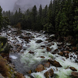 Raging Merced River by Norma Brandsberg