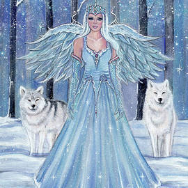 Rahmiel Angel with wolves by Renee Lavoie