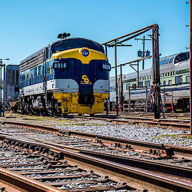 Rail yard North Carolina by William Krumpelman