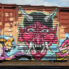 Railroad Car Graffiti Devil Box Car 2