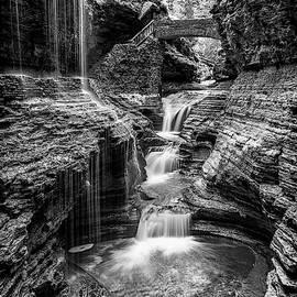 Rainbow Falls Gorge - Watkins Glen by Stephen Stookey