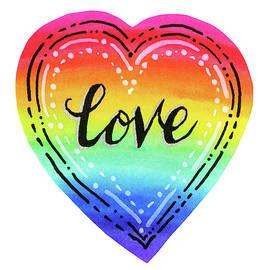Rainbow Heart Love by Olga Shvartsur