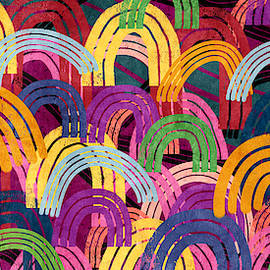 Rainbow Party- Art By Linda Woods by Linda Woods