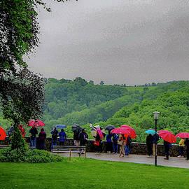 Rainy Day Umbrellas by Phyllis Spoor