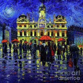 Rainy Night In Lyon by Mona Edulesco