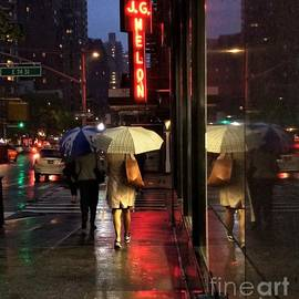 Rainy Night Reflections by Miriam Danar