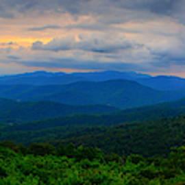 Range View At Sunset Panorama 4 To 1 by Raymond Salani III