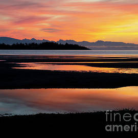 Vancouver Island Rathtrevor Beach Sunrise  by Bob Christopher