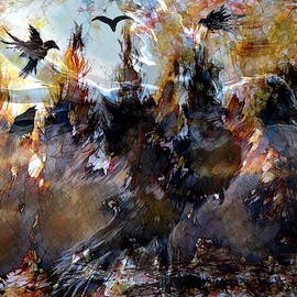Raven Spirits by Abstract Angel Artist Stephen K