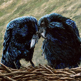 Ravens In Love by Rebecca Buemoonshadow