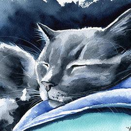 Recharging Cat by Dora Hathazi Mendes
