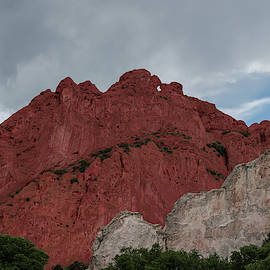 Red and White Sandstone by Michael Hills