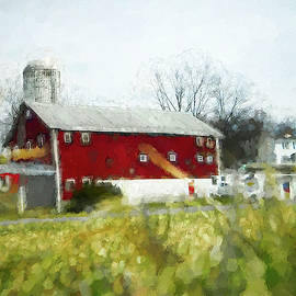 Red Barn 4 #painting by Andrea Anderegg