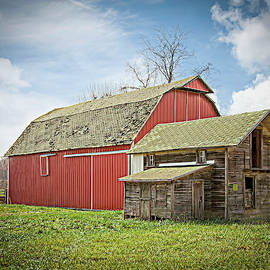 Red Barn and Weathered Shed by William Sturgell