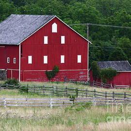 Red Barn Near Cemetery Ridge Gettysburg by James Brunker