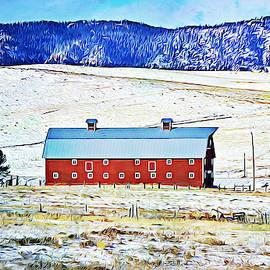 Gaby Ethington - Red Barn on Snow Hill