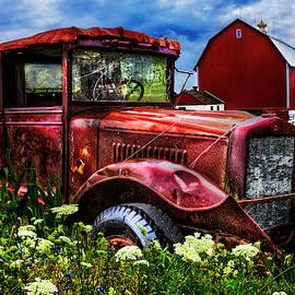 Red Barn Red Truck by Debra and Dave Vanderlaan